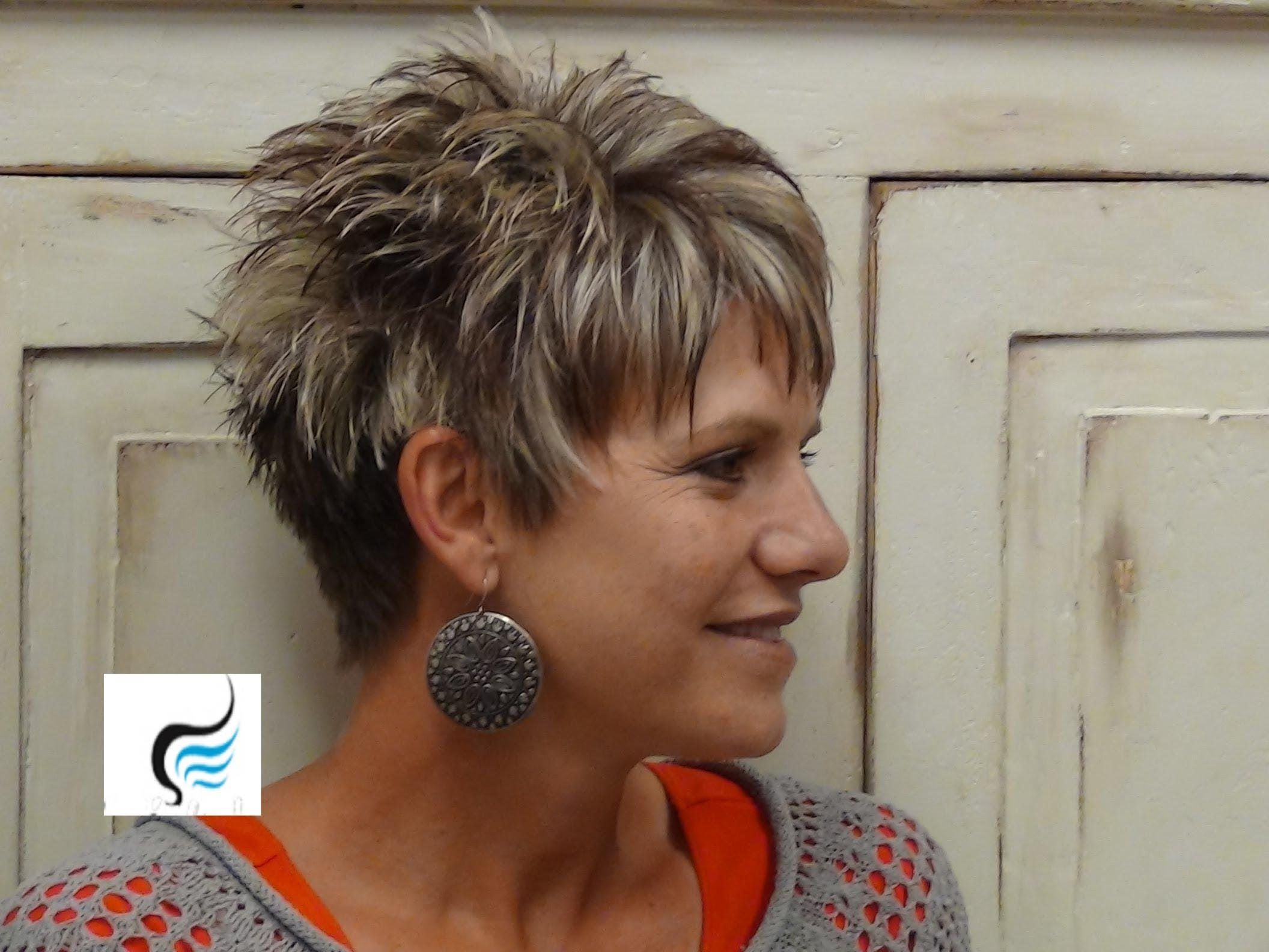great tutorial on how to cut hair short. love this look