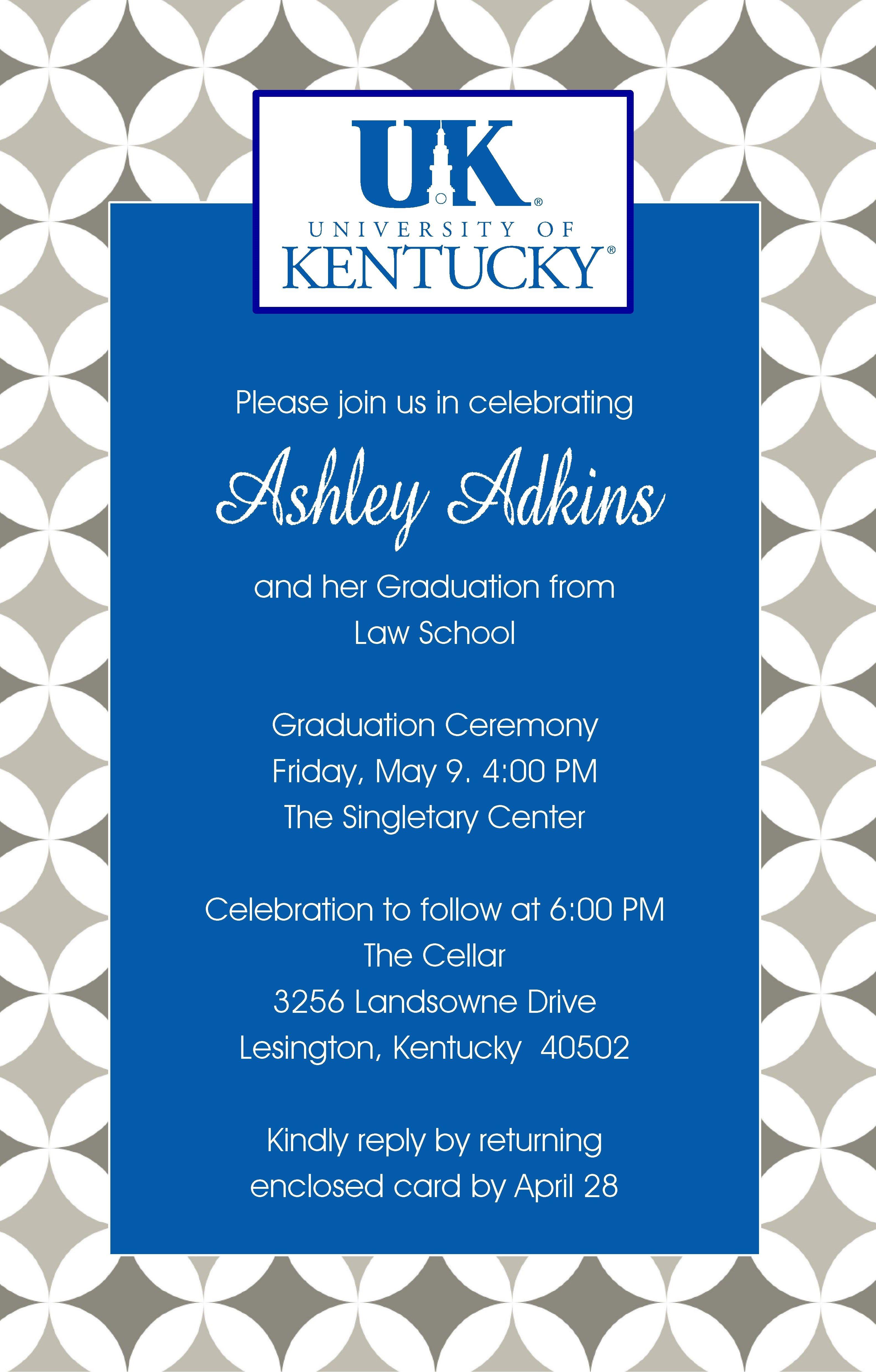 University of Kentucky Graduation Invitation | College | Pinterest
