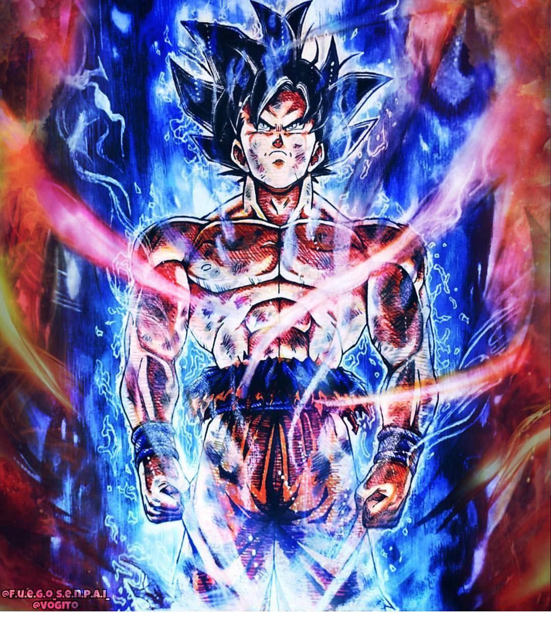 Poster 42x24 cm Dragon Ball Super Vegeta Goku Beerus Super Saiyan God Blue 01