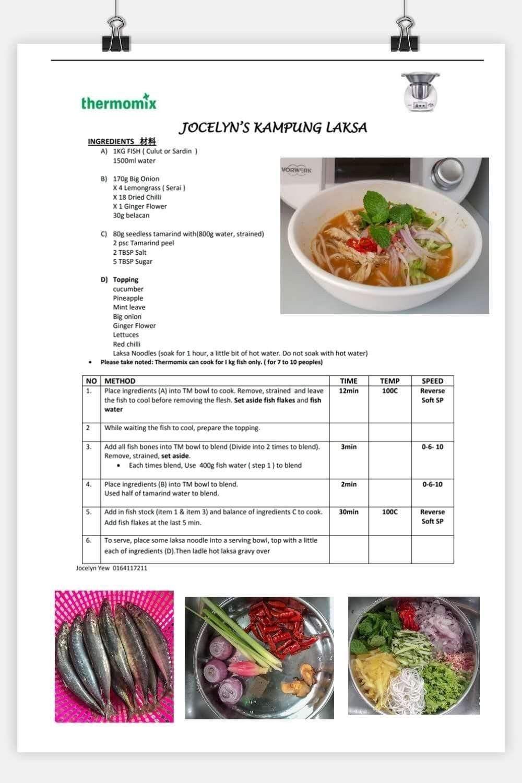 Assam Laksa Cooking Recipes Recipes Thermomix Recipes
