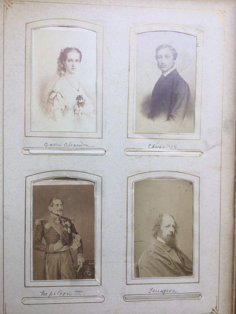 Antique Carte de Visite 81 CDV Photo Album ROYALTY, BROADWAY STARS, AUTHORS more