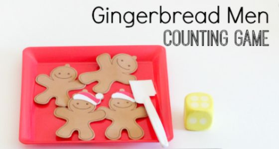 Gingerbread Man Counting Game - Pre-K Pages | Gingerbread ...