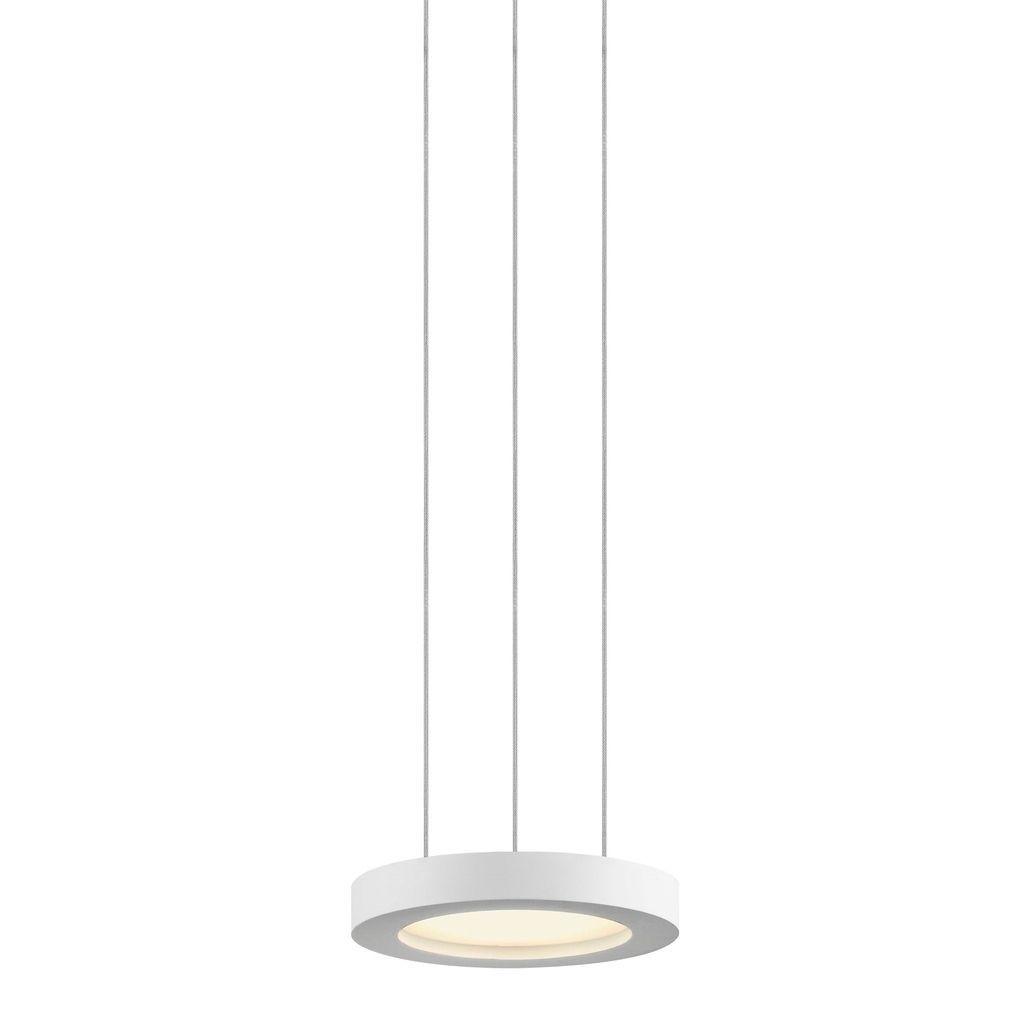Sonneman lighting chromaglo spectrum led satin white round pendant