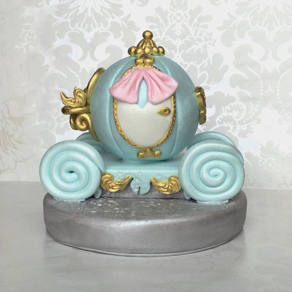 Fondant Cake Topper Inspired in Cinderella/'s Carriage