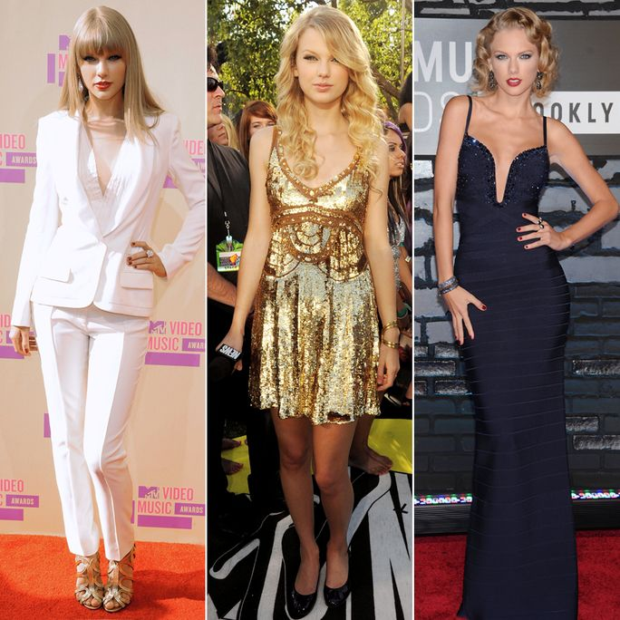 See Taylor Swift S Amazing Vma Style Evolution With Images Red Cocktail Dress Style Transformation Nice Dresses