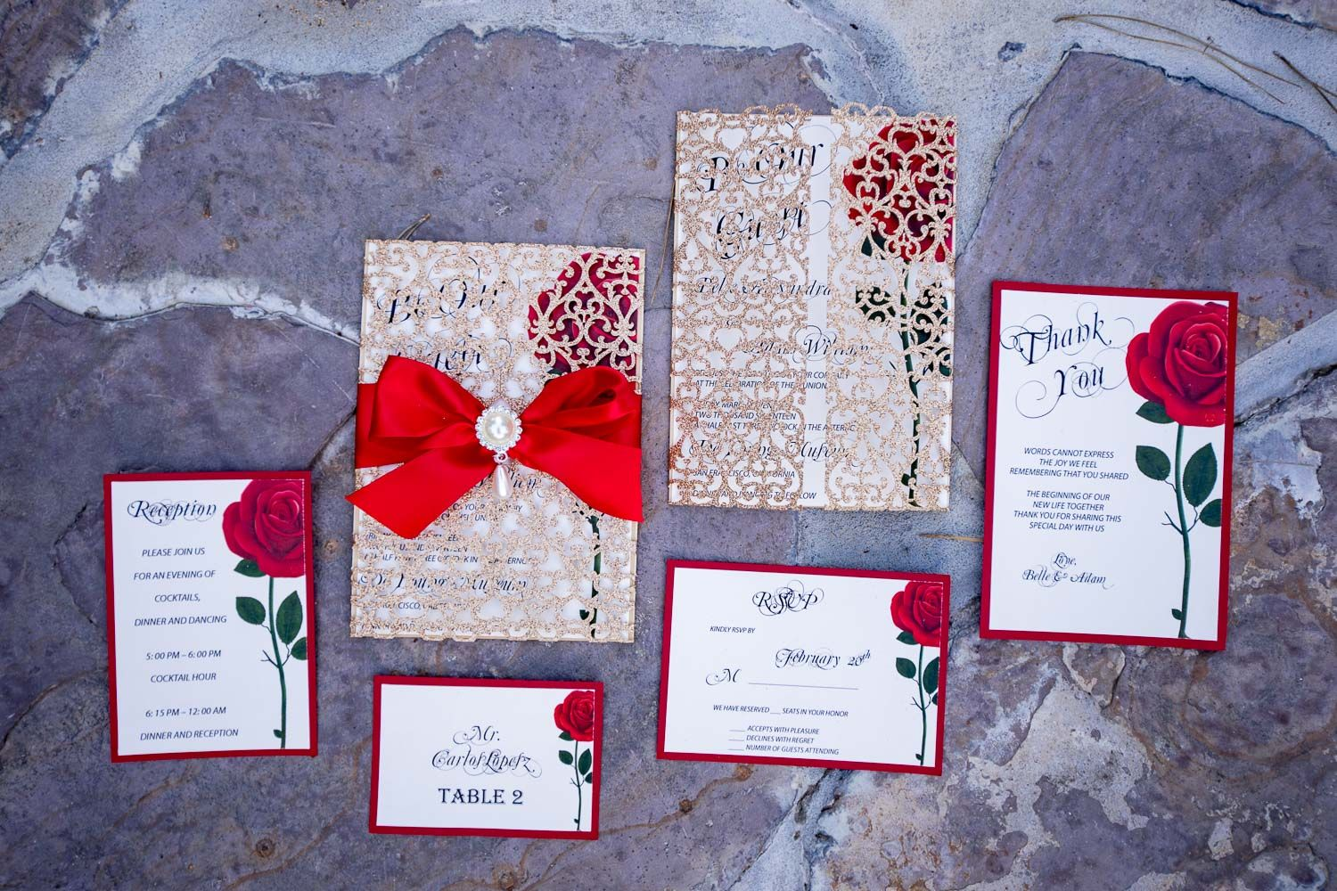 Be Our Guest Invitations Beauty and the beast wedding | Disney ...