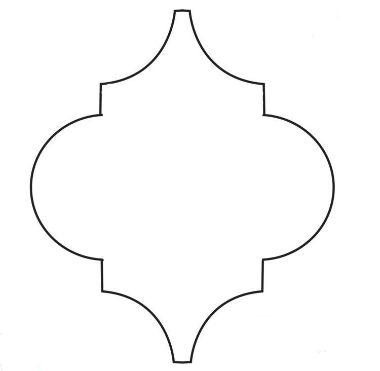 Wandschablonen Ausdrucken Muster Form Marokkanisch Einzeln Wandschablonen Schablonen Papierdekoration