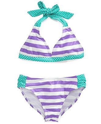 Angel Beach Girls' 2-Piece Bikini Swimsuit - Kids Swimwear - Macy's