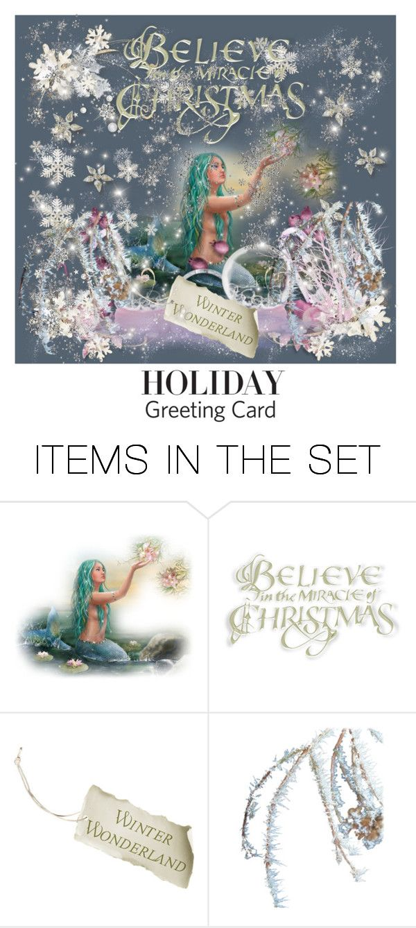 """""""Merry Christmas"""" by nescio ❤ liked on Polyvore featuring art, holidaycard and nescio"""