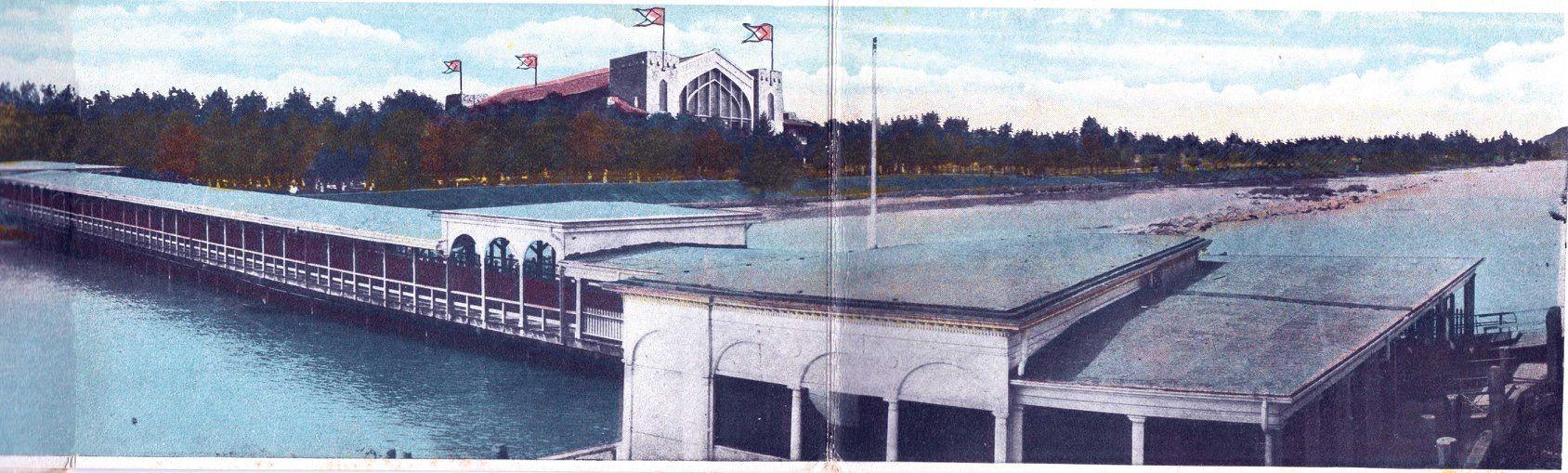 Circa 1910 BobLo Island at the original docks leading to