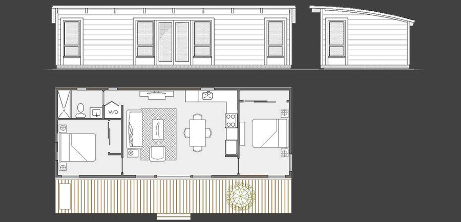Maxwell 16x42 by 75 350 complete for 16x50 house plans