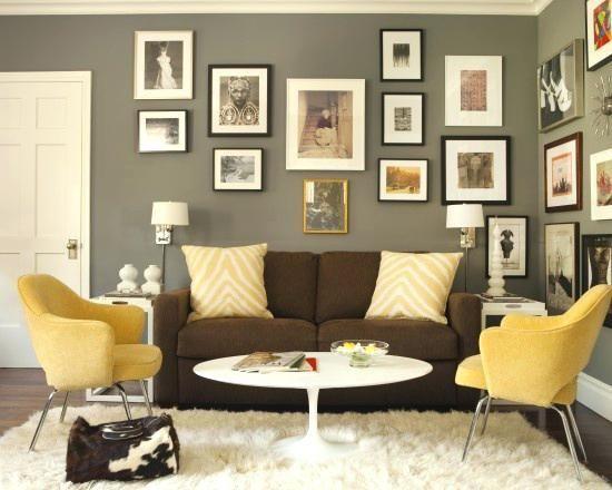 Wandfarbe für braune Möbel - Dekoration ideen  Wohnzimmer design