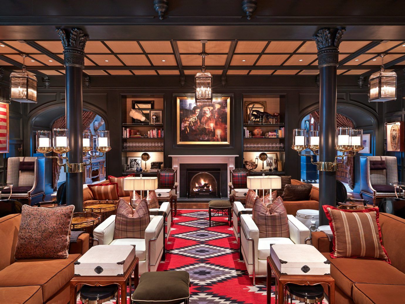 Fireplace Hotels Lobby Lounge Trip Ideas Winter indoor