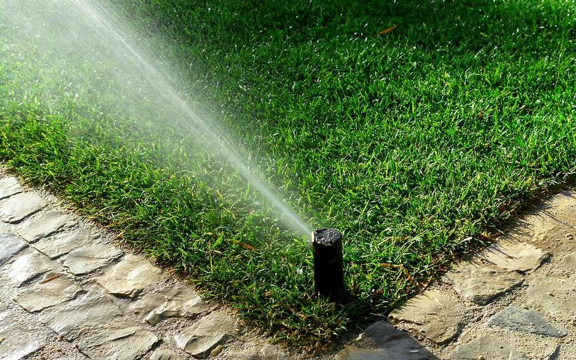 Water Wise Tip Check Your Sprinklers Garden Irrigation System Lawn Irrigation Garden Watering System