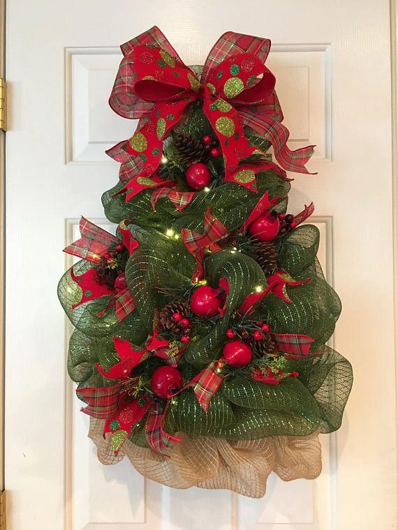 Árbol de Navidad guirnalda Malla de Deco malla guirnalda de