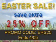EASTER SALE  Save extra 25% Off