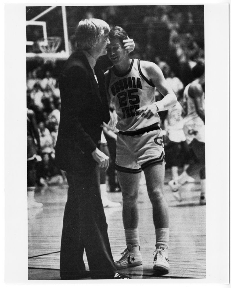 Coach Bobby Cremins & Mark Price, circa 1984