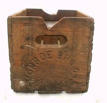 Vintage Wooden Monroe Brewing Co Beer Crate Wood Box Rochester NY