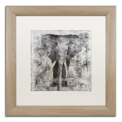 "Trademark Art ""Wild Life"" by Joarez Matted Framed Painting Print Size: 16"" H x 16"" W x 0.5"" D"