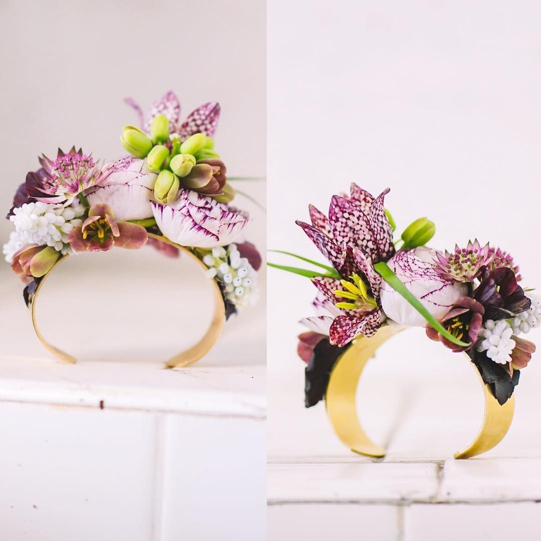 698 Likes 26 Comments Susan Mcleary Passionflowersue On Instagram No Wire Elastic Or Ribbon The Floral Br Floral Bracelet Corsage Floral Jewellery