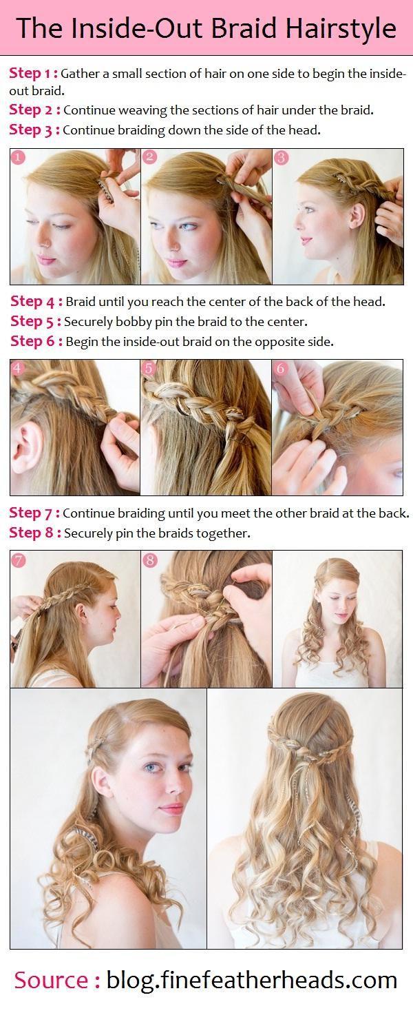 Bridesmaids Hairstyles For Long Hair Tutorials Popular Haircuts Long Hair Tutorial Hair Styles Inside Out Braid