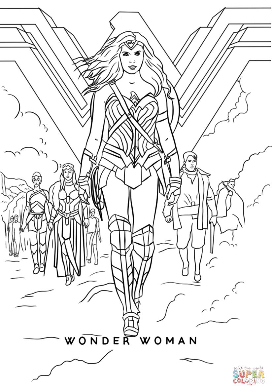 Wonder Woman Movie coloring page Free Printable Coloring ...