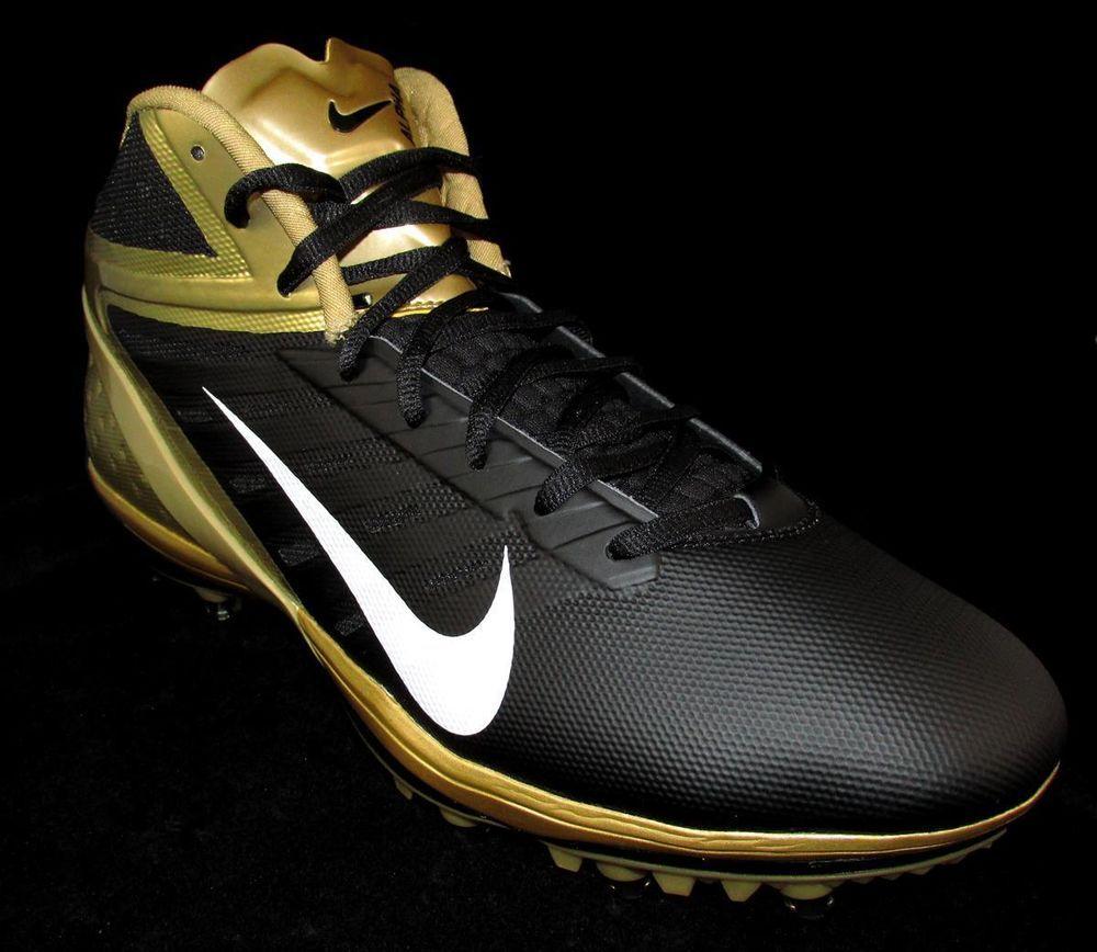Nike Alpha Talon Elite Molded Football Cleats Mens 13 Black Gold Saints   Nike 060c6ba59fe