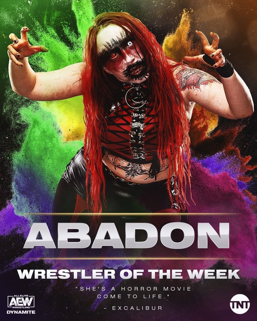 Aew On Tnt On Instagram The Only Thing Scarier Than Abadon Aew Is Abadon Aew In The Ring Making Her Our Wres Wrestler Wrestling Wwe Professional Wrestling