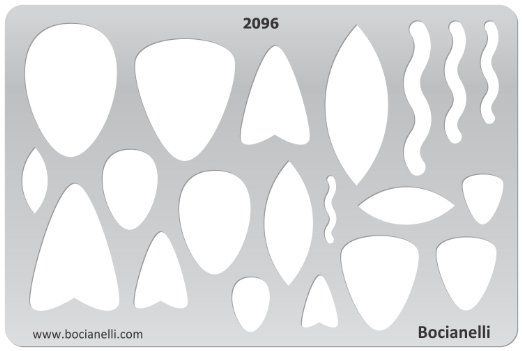 Tear-drops Plastic Stencil Template for Graphical Design Drawing Drafting Jewellery Making