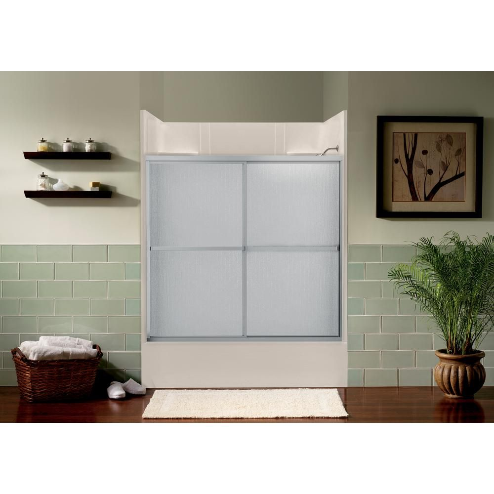 Aquatic Atwater 54 In 59 5 In X 57 7 In Framed Sliding Tub