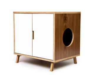 Mid Century Modern Cat Litter Box Furniture Large Par Modernistcat