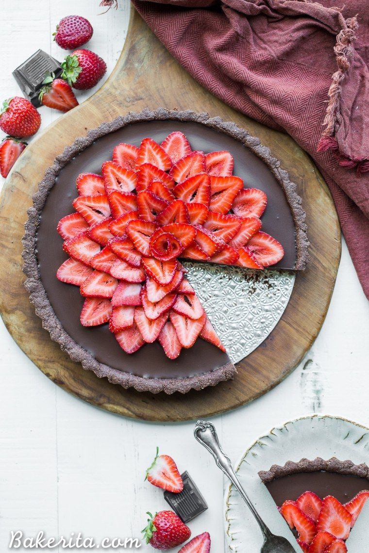 Strawberry Chocolate Tart Recipe Chocolate Tart Vegan Tarts
