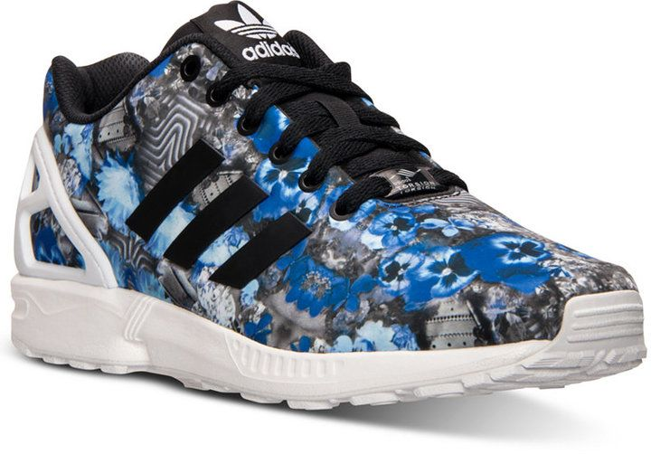bb1236a6b adidas Men s ZX Flux Floral Print Running Sneakers from Finish Line ...