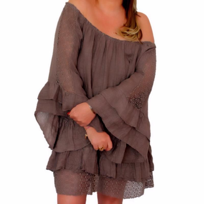 tunique boheme grande taille dentelle bohemian gypsy grande taille femme boheme boho. Black Bedroom Furniture Sets. Home Design Ideas