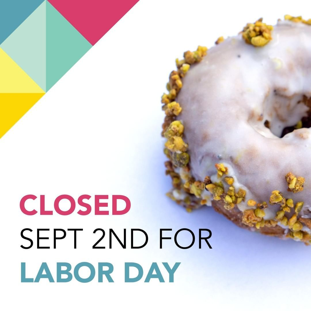We're closed tomorrow for Labor Day. (Open for wholesale) Enjoy the long weekend! . . #Dynamodonuts #Donut #Donuts #Donutshop #Doughnut #Doughnuts #Donutlover
