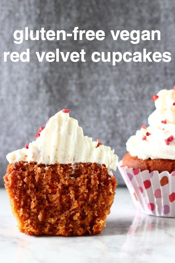 These Gluten Free Vegan Red Velvet Cupcakes With Cream Cheese