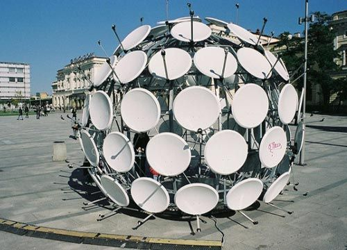 Satellite Dish Ball. If you throw it against a wall, will it stick?