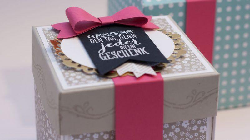 Explosionsbox Anleitung Zu Weihnachten Geschenk Und