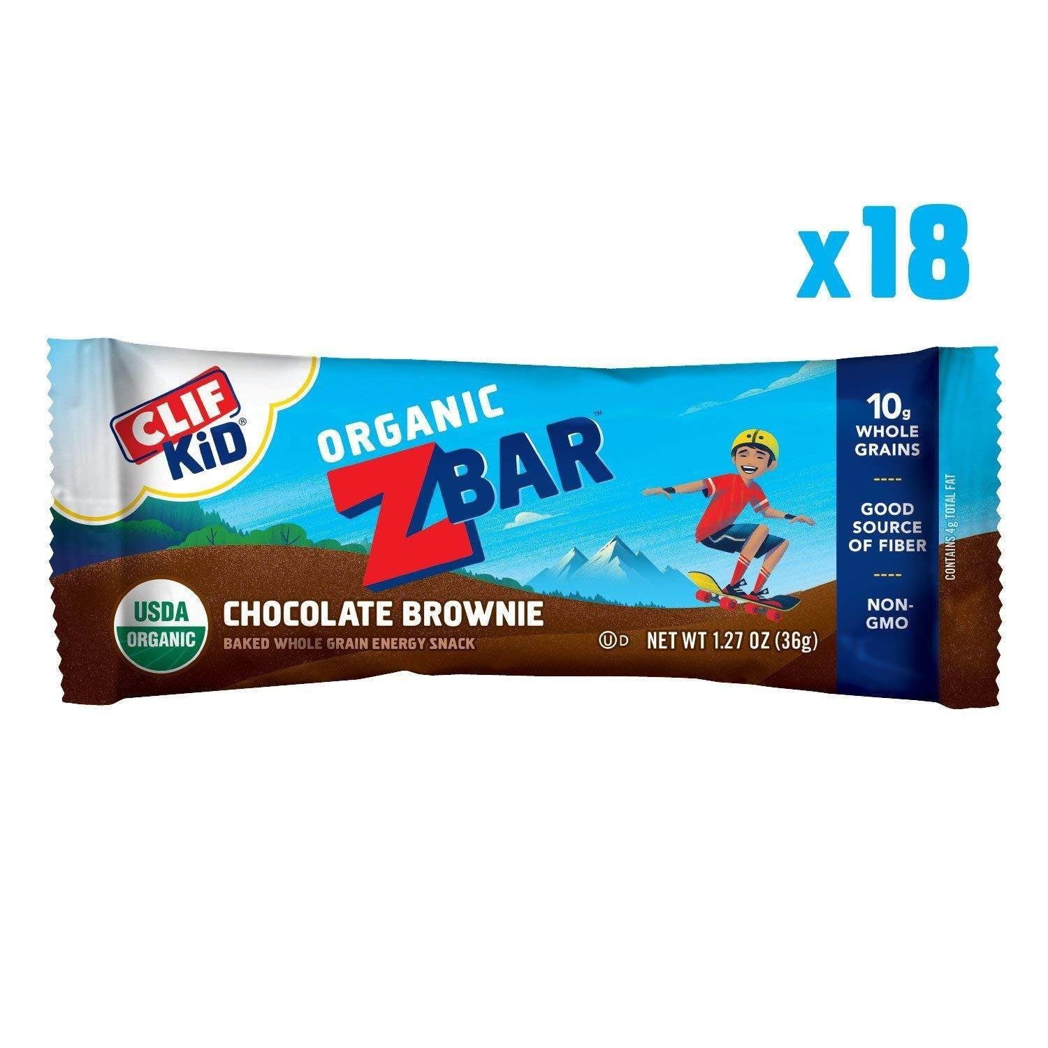 5b1b65ba4a4   7.78 18-Count of 1.27oz Clif Kid Zbar Organic Energy Bar (Chocolate  Brownie)  7.78 or Less w  S S Free Shipping Amazon