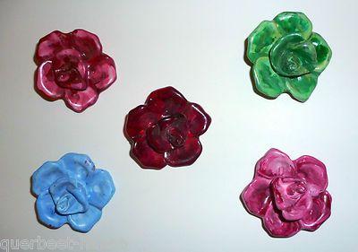 Handgemachter Schmuck aus St.Pauli  Rosen Haarklammern 5 cm groß  aus Acryl