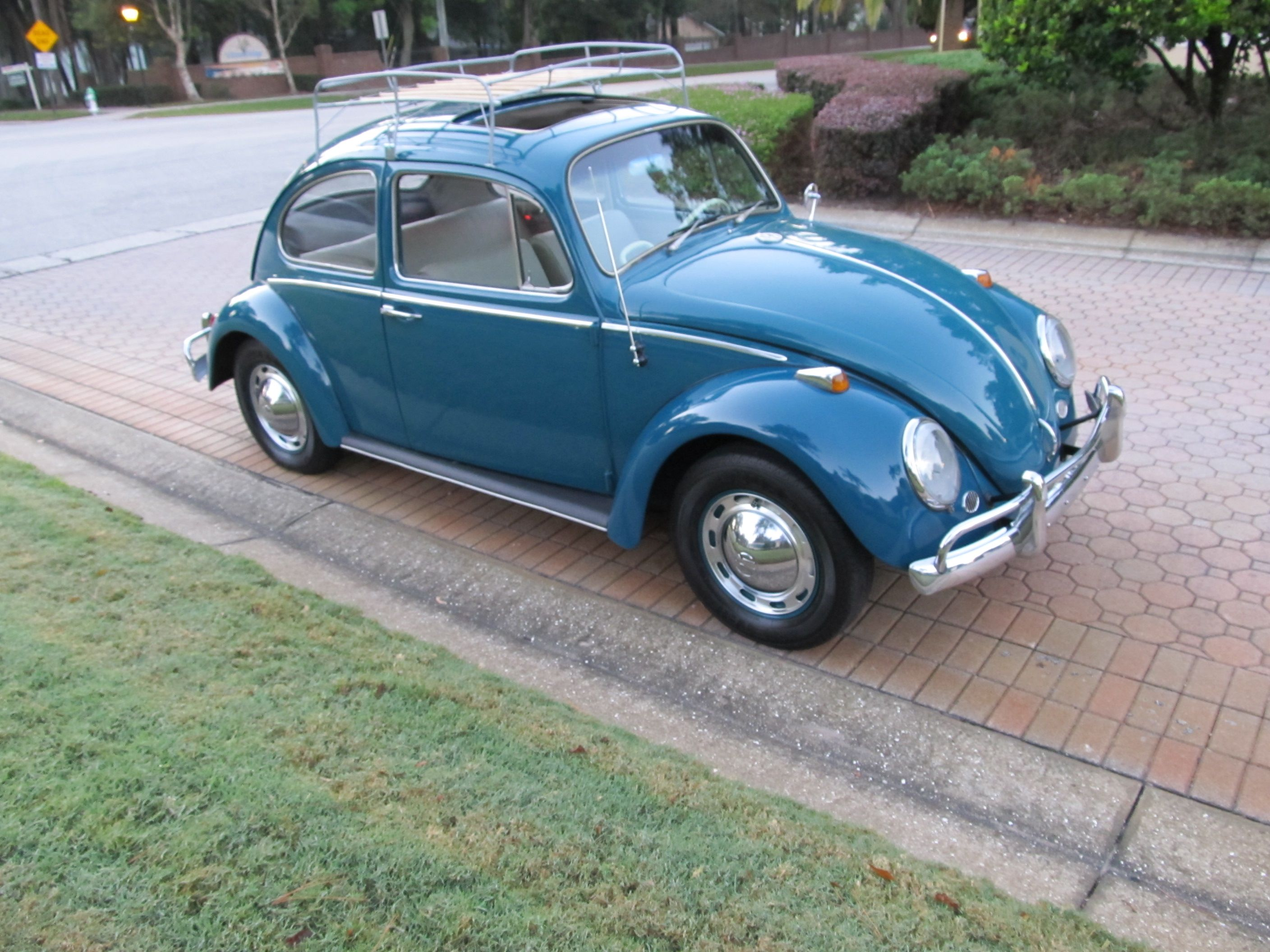 1965 Volkswagen Beetle A Nicely Restored Sunroof Bug Finished In Sea Blue With The New Bone Interior Includ Vw Beetle Classic Vw Beetle For Sale Volkswagen