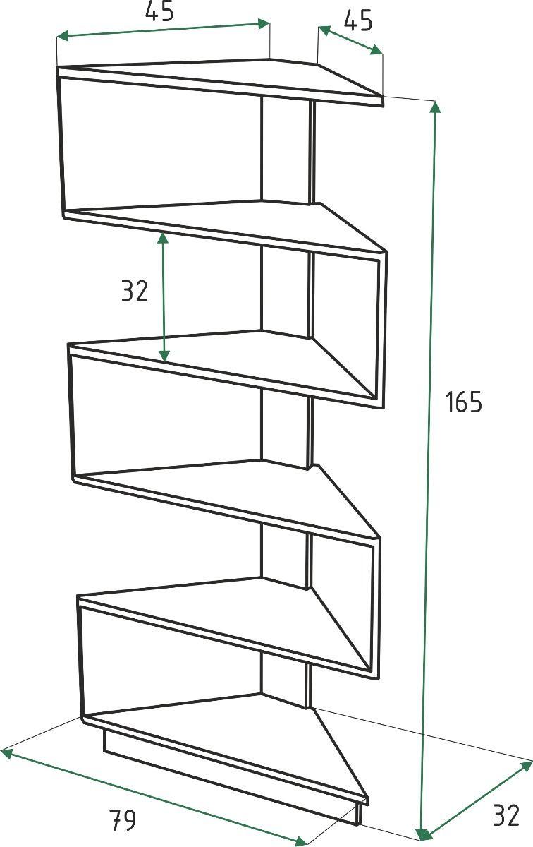 Repisa Esquinero Moderno Diseno Minimalista Unico 2 895 00