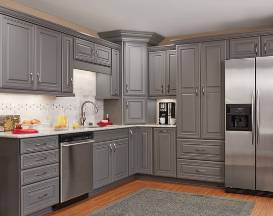 Gray cabinets from mid continent cabinetry kitchens - Mid continent cabinets ...