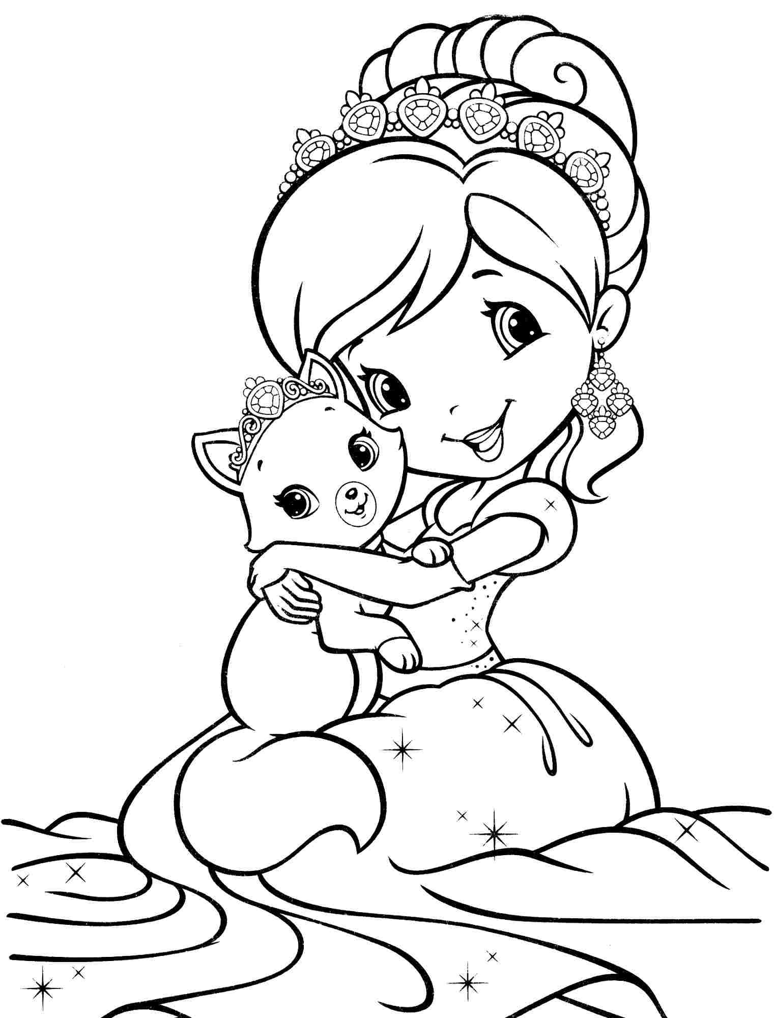 60 Cartoon Strawberry Shortcake Coloring Pages Printable 1523