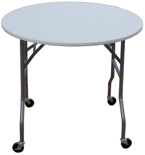 36 Inch Round Folding Table On Wheels: Banquet Tables Pro® Round Folding  Table On Wheels Features A Diameter Top, 4 Swivel Casters, 2 Casters Have A  Brake