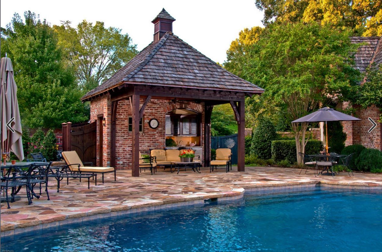 Pool Coping Red Brick Pool Houses Pool House Designs Modern Pool House