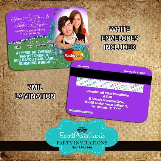 Peacock Wedding Invitations Very Unique Credit Card