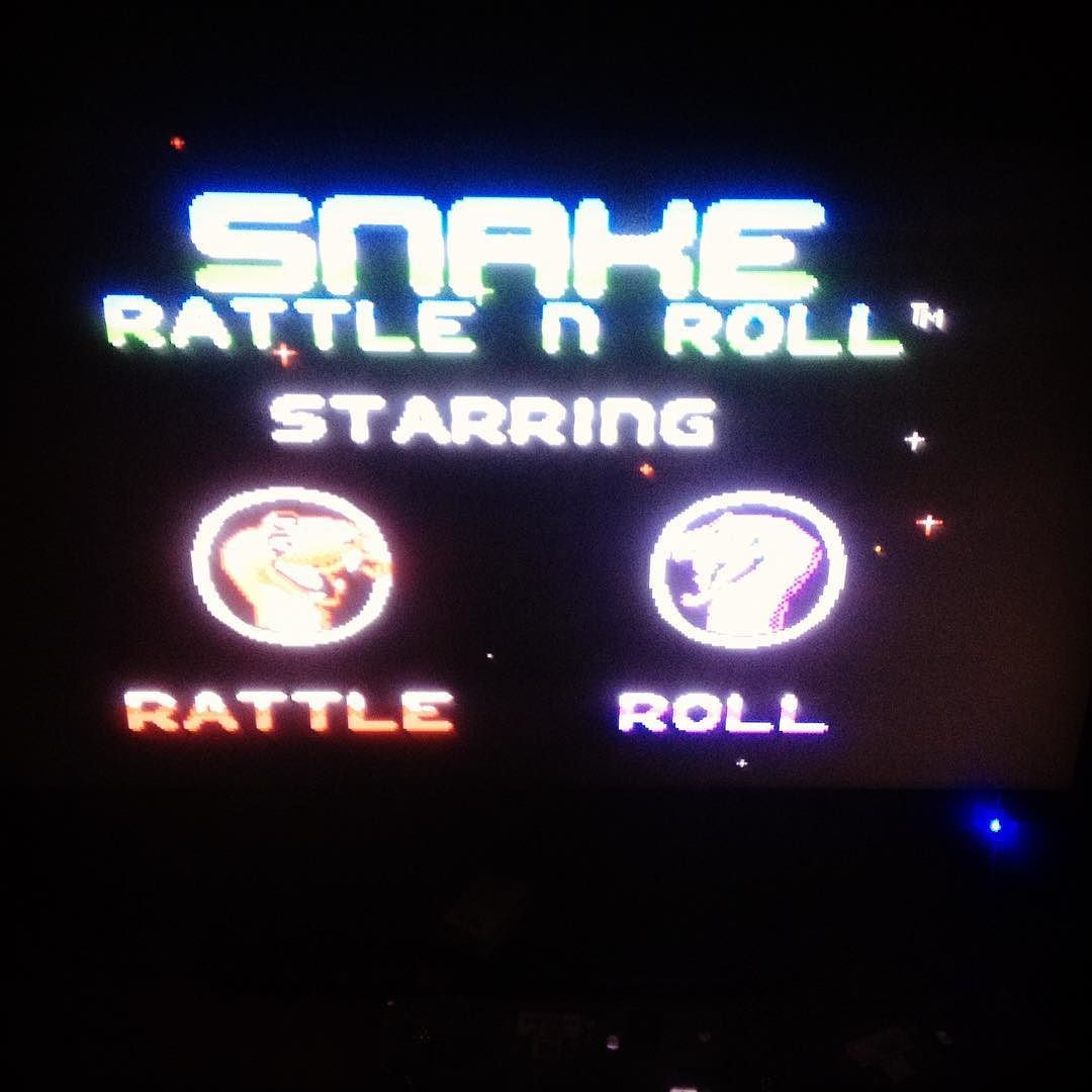 Interesting one by heavydetour #retrogaming #microhobbit (o) http://ift.tt/22d6WsH night's gaming session thanks to Rare Replay. I love this game and I'm well aware I'm probably one of the few. I just think the term 'nibbly pibbly's' is amazing that's all. #snakerattleandroll #nes #nintendo #nintendoentertainmentsystem #1990 #rare #rarereplay #microsoft #xboxone #videogames #retro