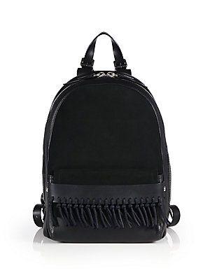 7d1e081b3c 3.1 Phillip Lim Bianca Mini Fringed Leather & Suede Backpack - Bla ...