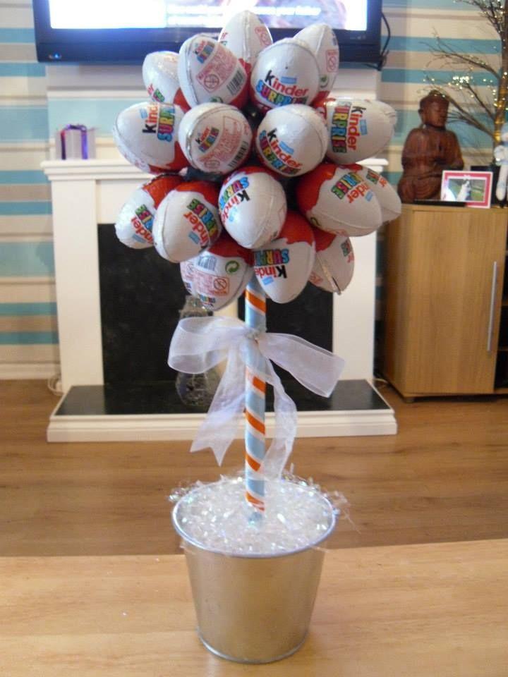 Things I have made! Kinder egg sweet tree Geschenk Ideen - küche neu bekleben